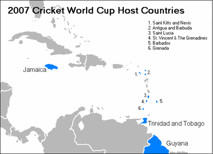 ICC Cricket World Cup 2007 Venues. Barbados will be hosting the final of the
