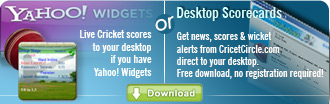 Cricket Desktop Scorecard Widget